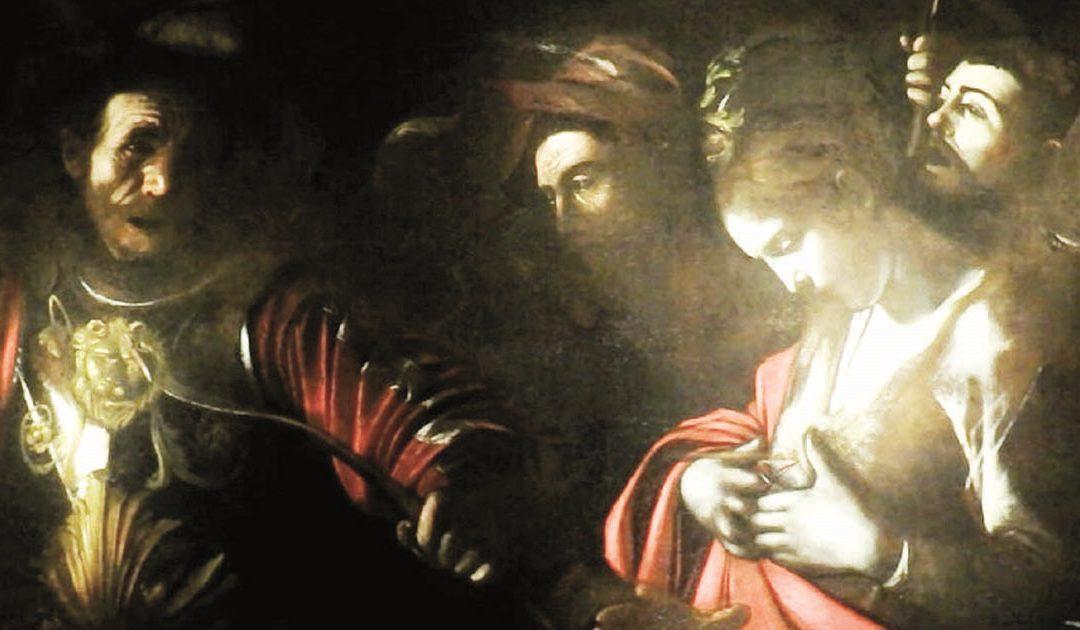 """Caravaggio, """"Martirio di sant'Orsola"""" (1610); palazzo Zevallos Stigliano a Napoli"""