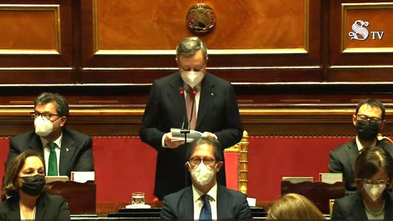 Nuovo Governo, il discorso integrale di Mario Draghi al Senato della Repubblica