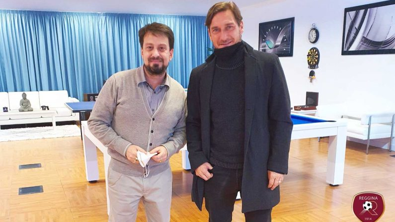 Calcio, il presidente della Reggina ha incontrato Francesco Totti: avviata collaborazione