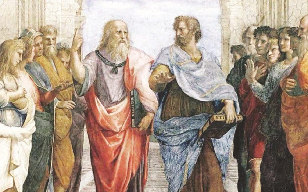 Un particolare della Scuola di Atene, di Raffaello