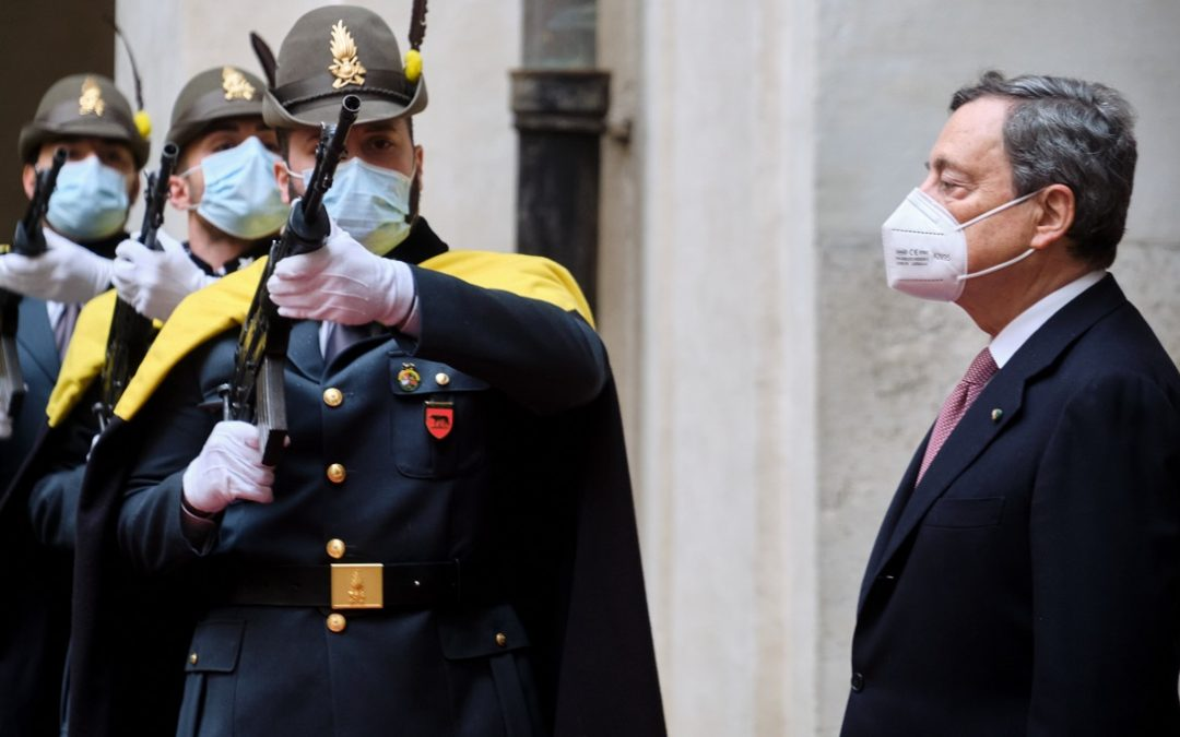 Mario Draghi a Palazzo Chigi