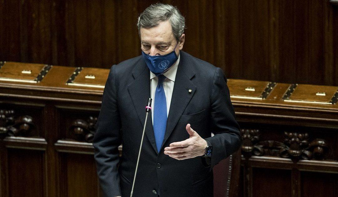 Il Presidente del Consiglio Mario Draghi durante la replica alla Camera