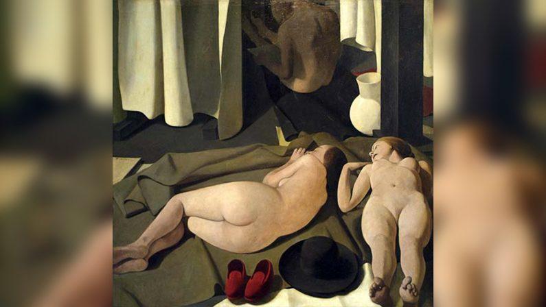 Il riposo delle tre donne nude di Casorati con monsignore nell'altra stanza del sesso