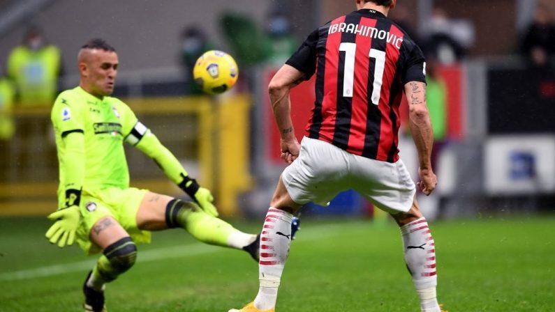 Serie A, Crotone travolto dal Milan di Ibrahimovic che supera quota 500 gol nei club