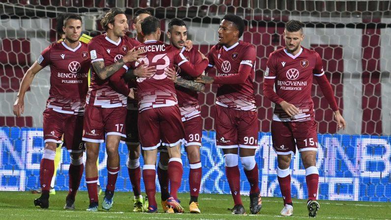 Serie B, alla Regginabasta un rigore di Montalto per superare la Virtus Entella