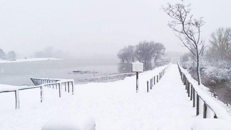 Neve, pericolo vento e ghiaccio in tutta l'Irpinia