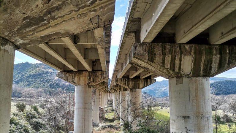 Basentana, quel ponte fa paura: a Calciano piloni con fessure e infiltrazioni