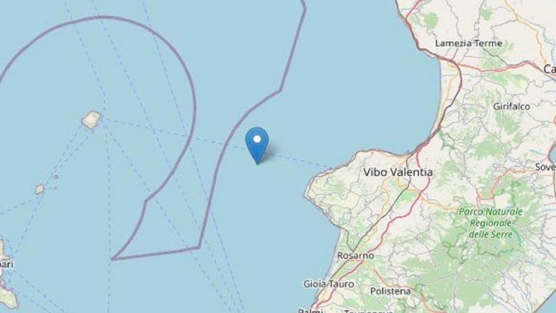 Due scosse di terremoto in mare nel corso della mattinata