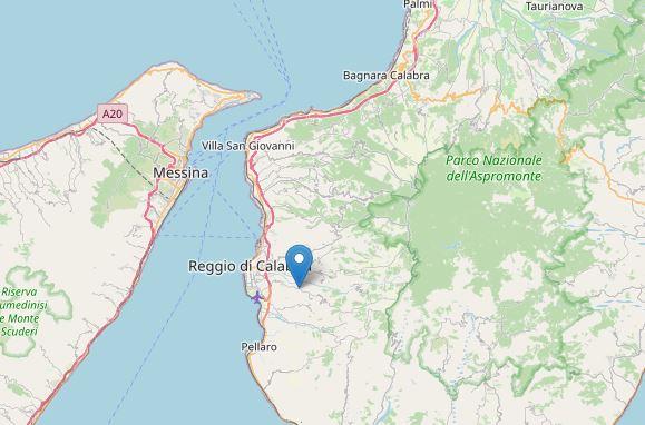 Reggio Calabria, scossa di terremoto di magnitudo 2.7