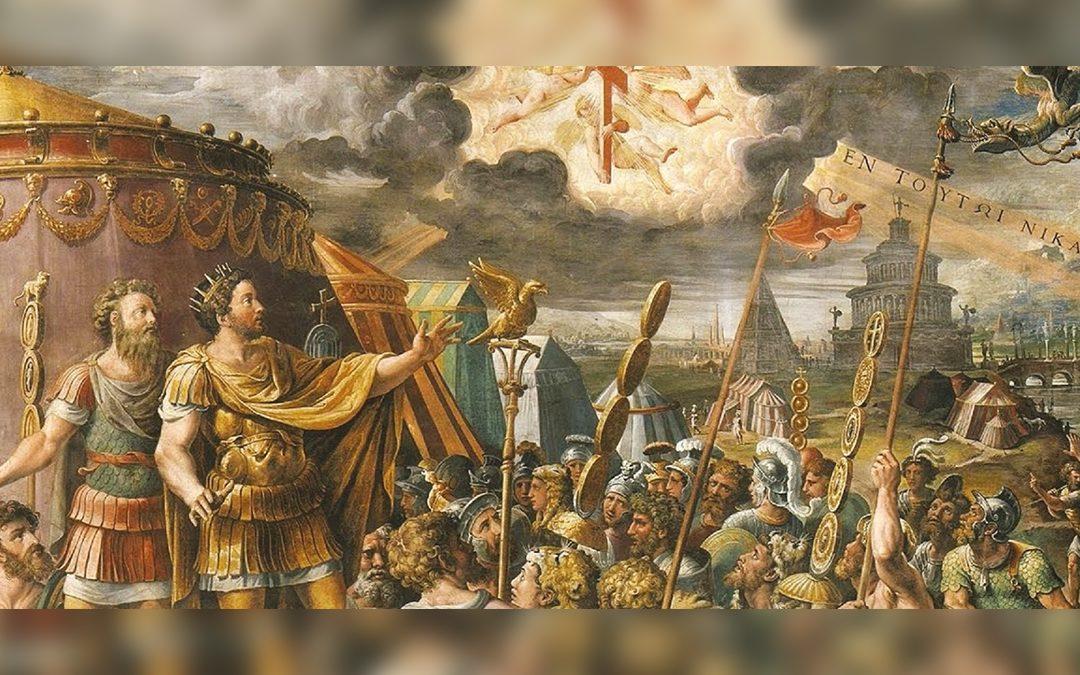 """La """"Visione della croce"""", situato nella Sala di Costantino, una delle Stanze Vaticane"""