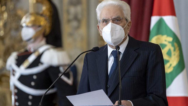 """Covid, Mattarella: """"L'Italia ha dimostrato unità e coesione"""""""