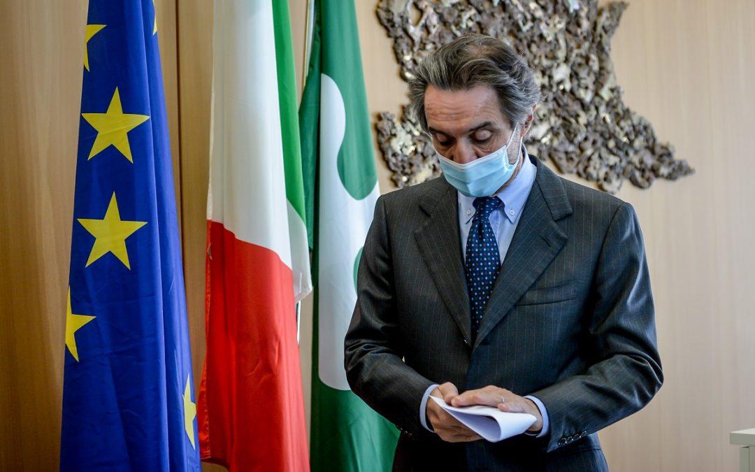 Il governatore della Regione Lombardia Attilio Fontana