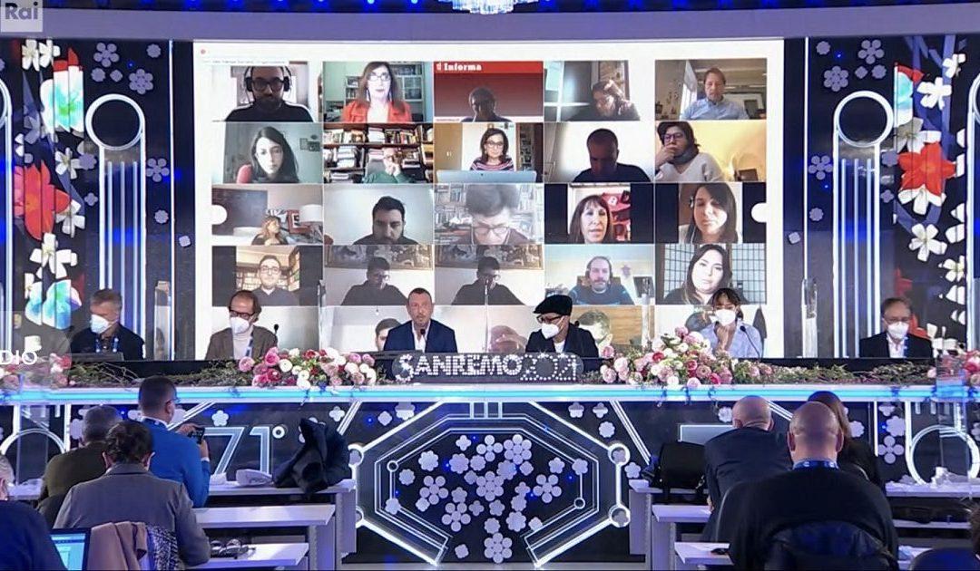 La conferenza stampa al Casinò di Sanremo