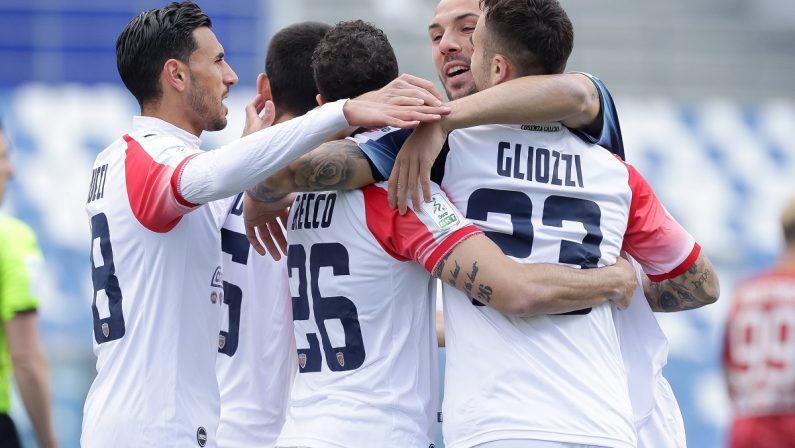 Cosenza, terzo pareggio di fila: contro la Reggiana non basta il gol di Gliozzi