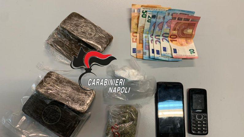 Oltre mezzo chilo di droga nel bagagliaio della macchina, 2 persone arrestate dai Carabinieri