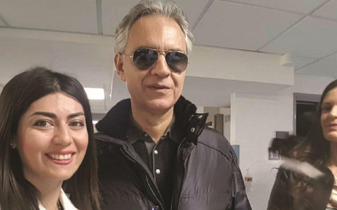 Marianna Buscemi con Andrea Bocelli