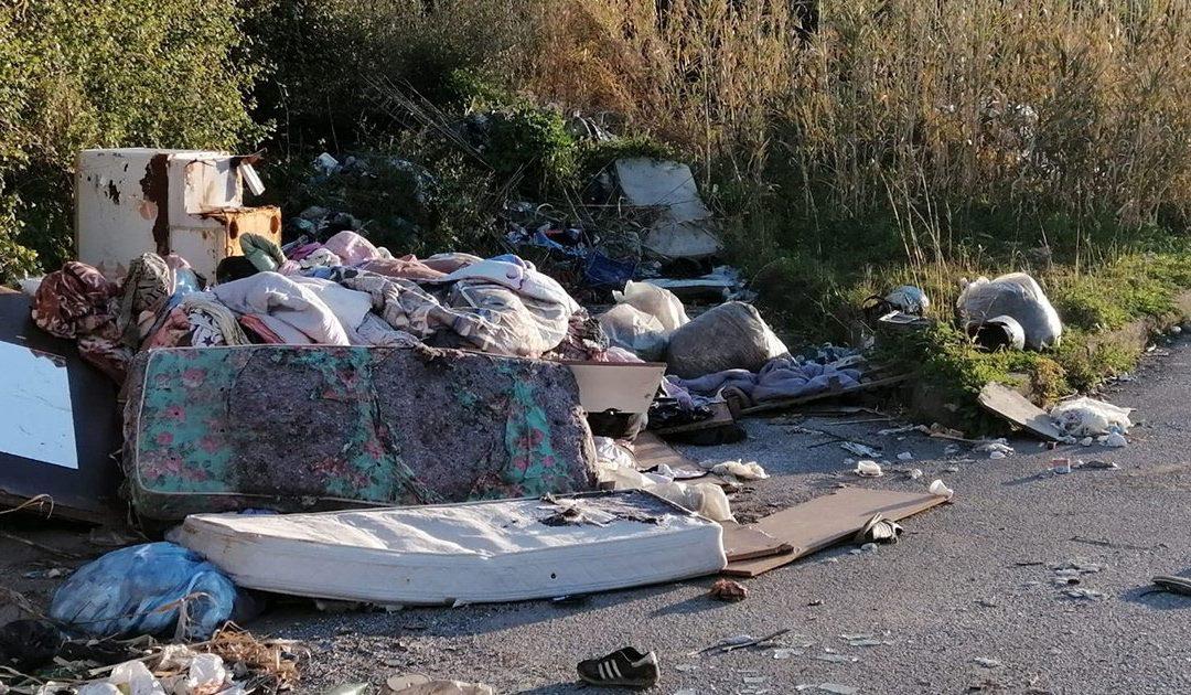 Alcuni dei rifiuti presenti nelle strade di Vibo Valentia