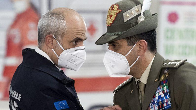 Coronavirus, Figliuolo e Curcio venerdì 26 marzo in Calabria