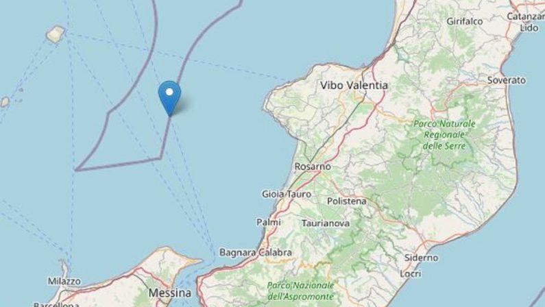 Scossa di terremoto registrata in mare di magnitudo 2.8
