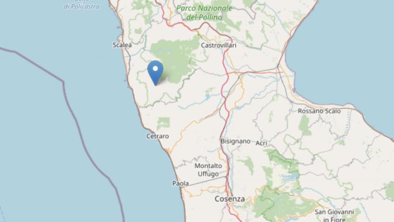 Scossa di terremoto di magnitudo 3 nel Cosentino