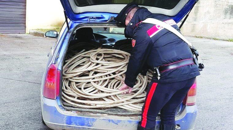 Ladri di cavi elettrici tra Melfi, Rionero, Atella e Pescopagano, 9 arresti