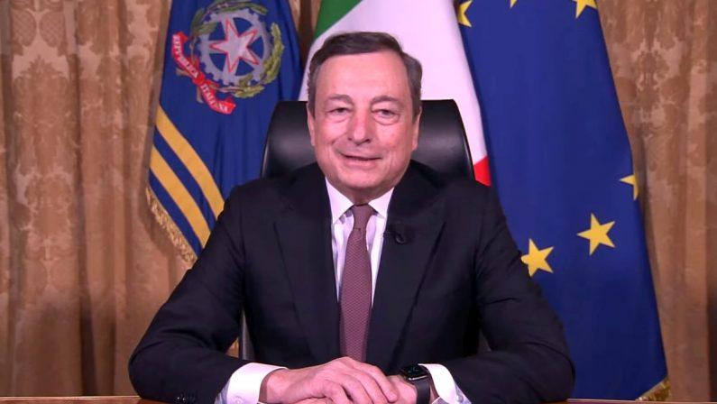 """Covid, Draghi: """"Dal 26 aprile tornano le zone gialle"""""""