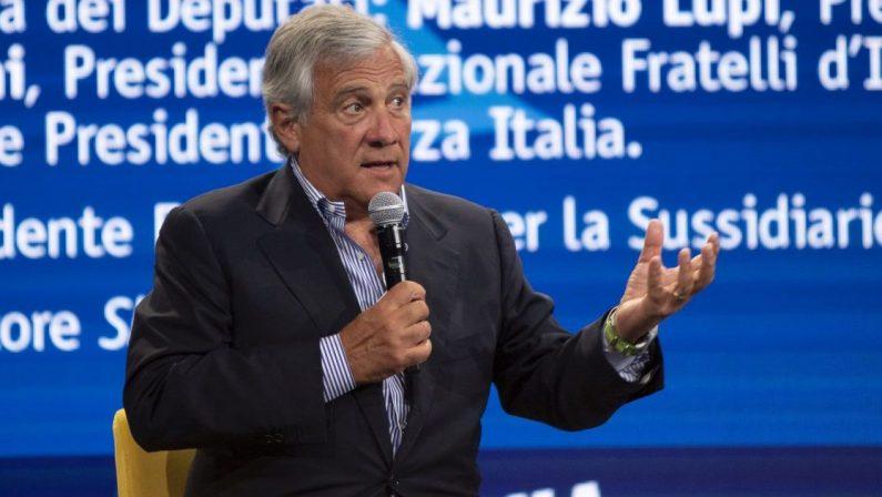 Recovery plan, Antonio Tajani: «È giusto mantenere il tetto del 40% per il Sud»