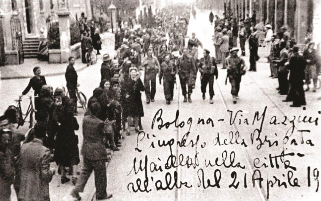 La Brigata Maiella durante la liberazione di Bologna il 21 aprile del 1945, foto da  www.laprima pagina.it