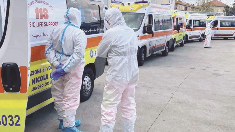 Otto morti e 450 i contagi da coronavirus registrati in Calabria nelle ultime 24 ore