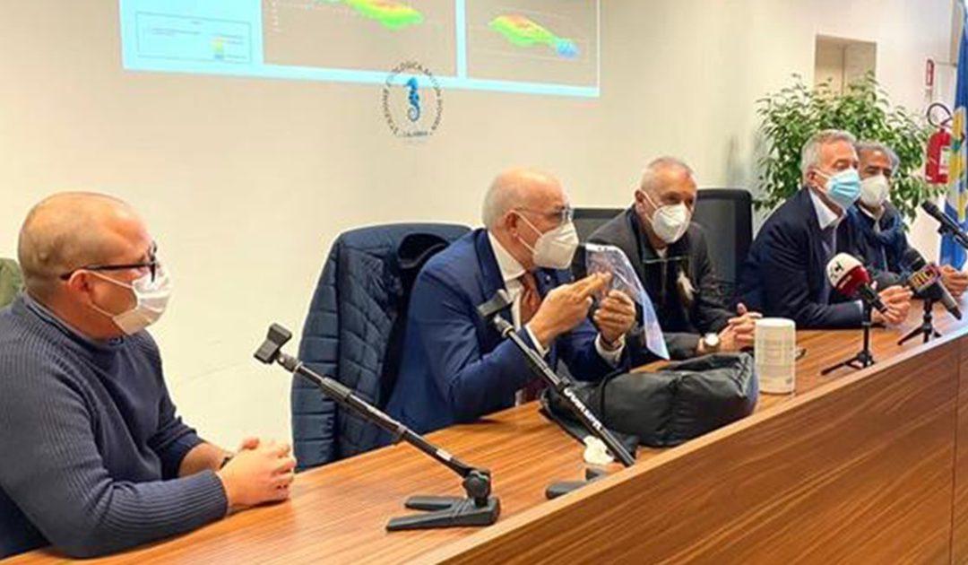 La conferenza stampa di presentazione delle scoperta del Corallo