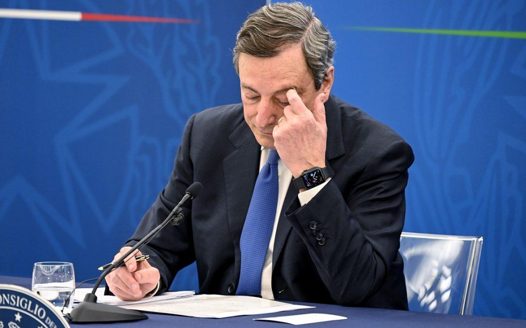 Mario Draghi in conferenza stampa