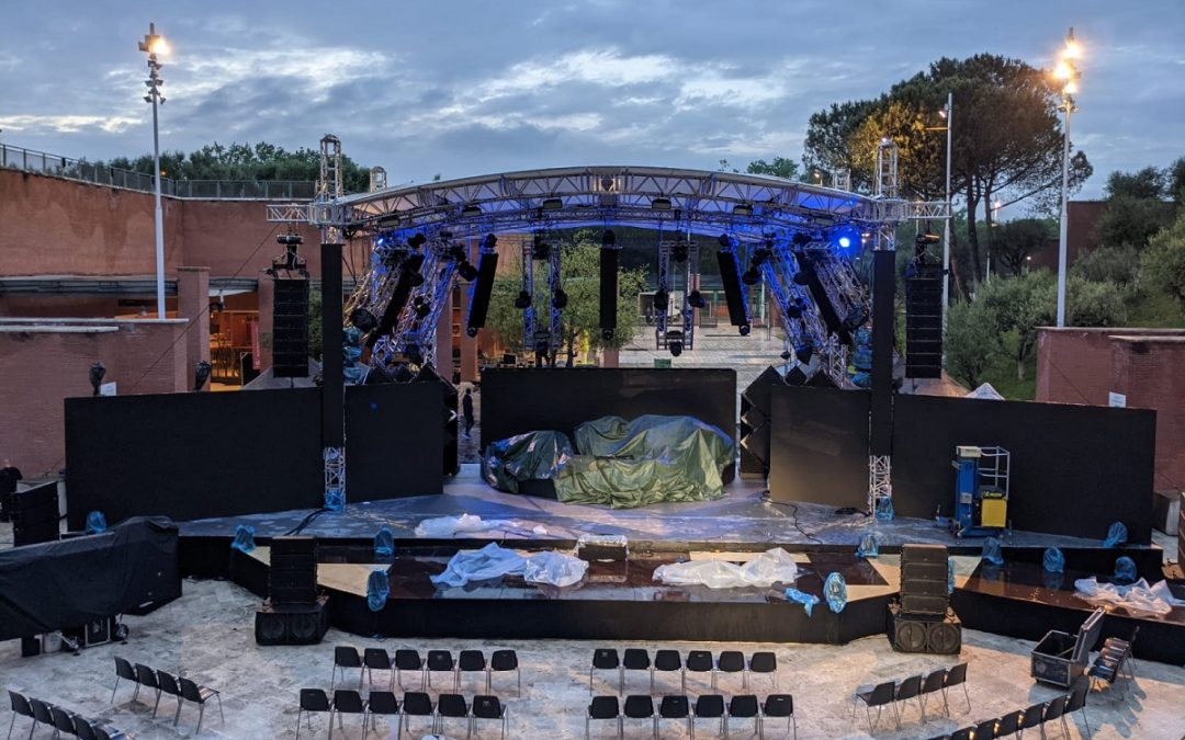 Il palco alla Cavea del Parco Nazionale della Musica a Roma