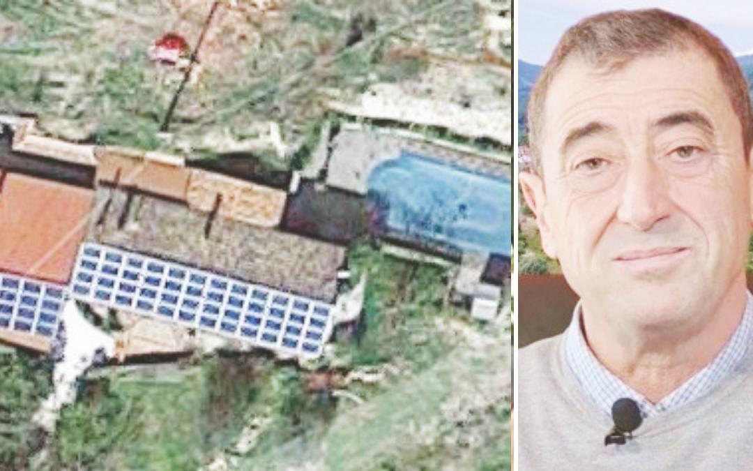 II terreno con la piscina abusiva (foto da Google maps) e Paolo Campanella