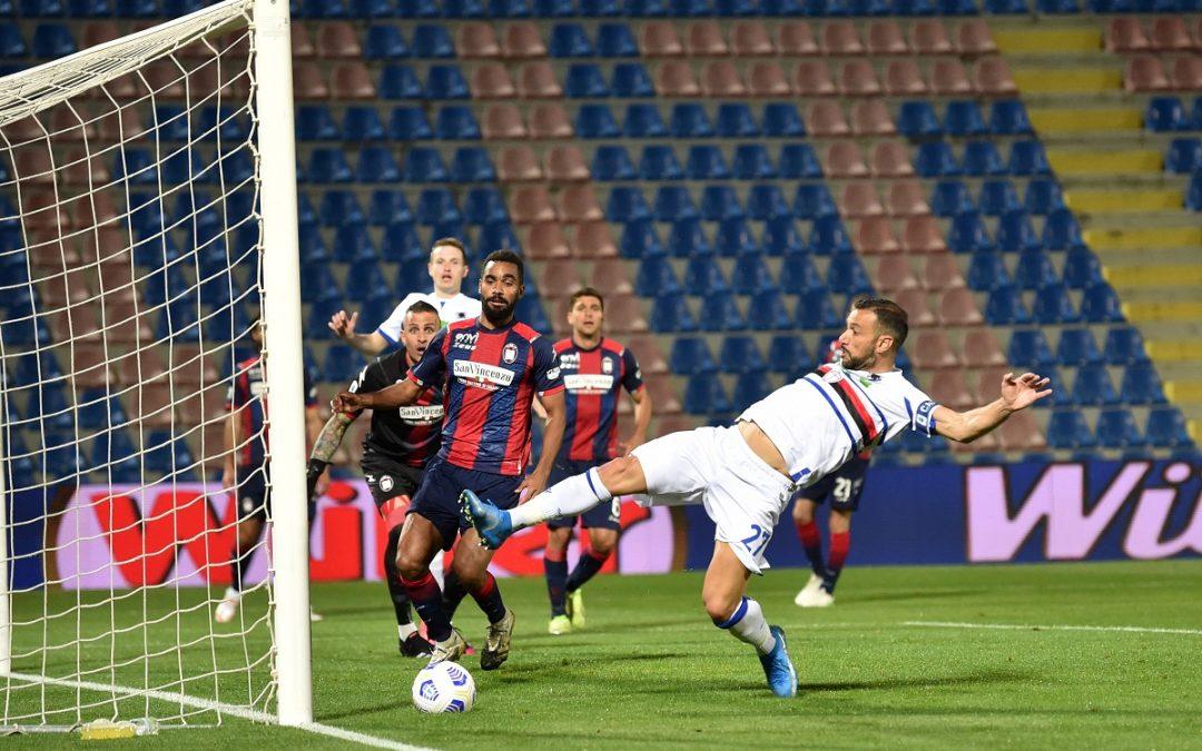 Quagliarella segna il gol che condanna il Crotone