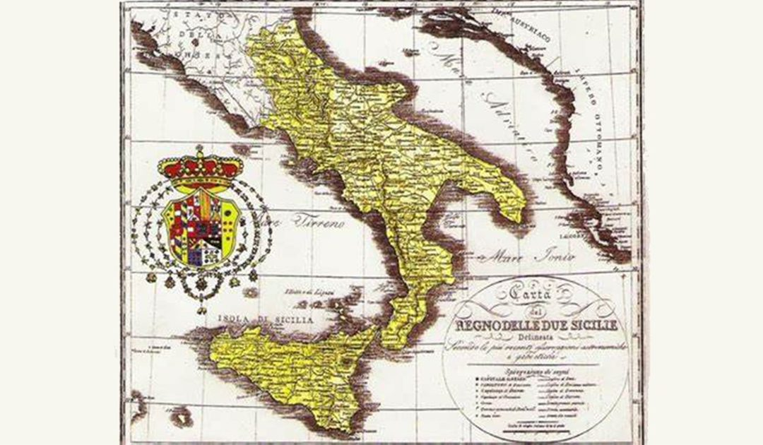 Una cartina del Regno delle Due Sicilie