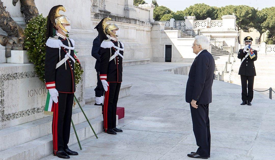 Il presidente Sergio Mattarella durante la commemorazione del 25 aprile dello scorso anno