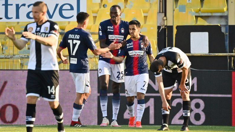 Serie A, una gioia per il Crotone: i rossoblù vincono 4-3 a Parma