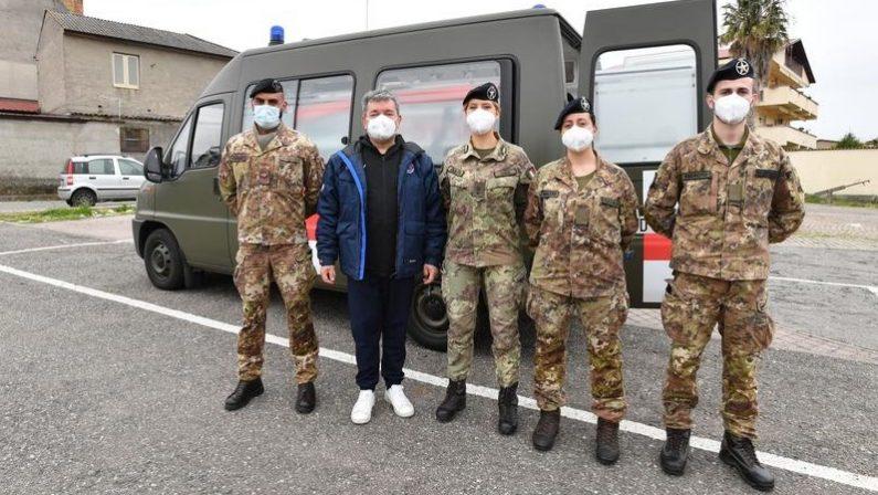 Coronavirus, in Calabria il team dell'Esercito che sarà impiegato per le vaccinazioni