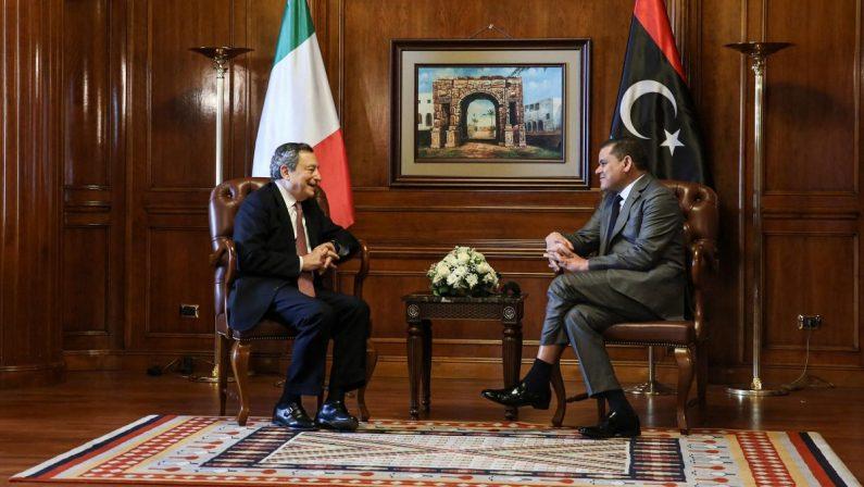 """Draghi in Libia, """"momento unico"""" per rimediare ai guasti del passato"""