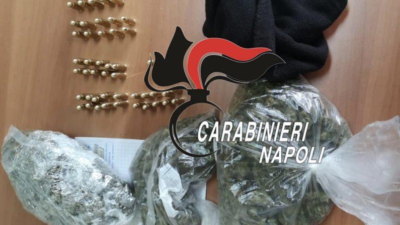 Varcaturo: Carabinieri arrestano 33enne con droga e munizioni. Era stato già arrestato qualche giorno fa