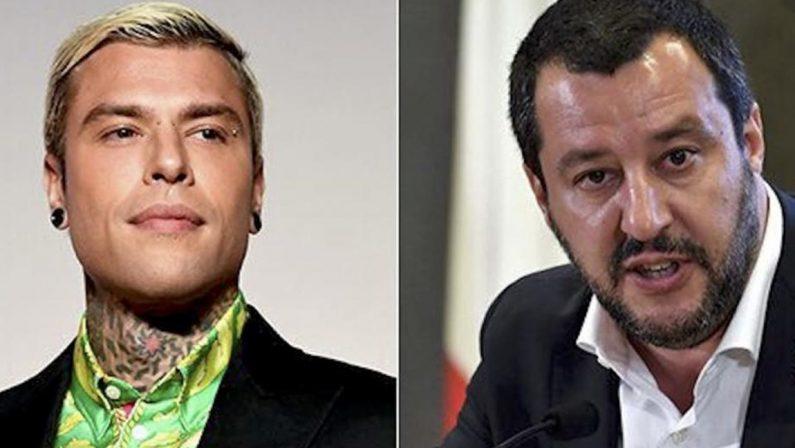 """Ddl Zan, Salvini scrive a Fedez: """"Ti ammiro e voglio incontrarti"""""""