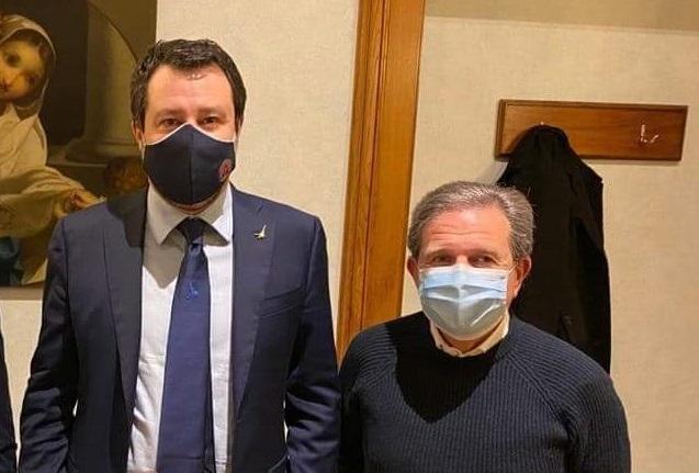 Il commissario Saccomanno con Matteo Salvini