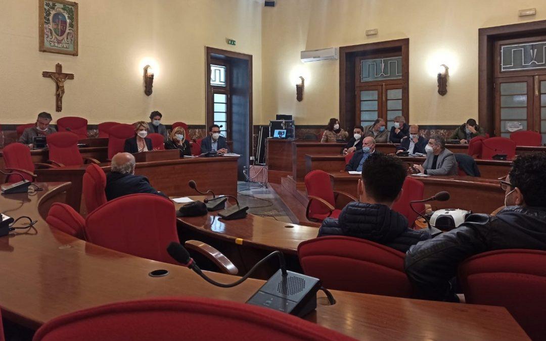 La riunione dell'Ato tenutasi ieri pomeriggio a Palazzo Luigi Razza