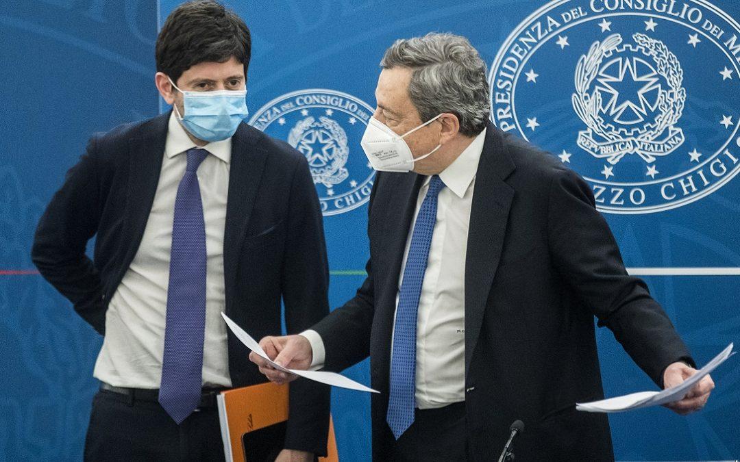 Il ministro Speranza e il premier Draghi