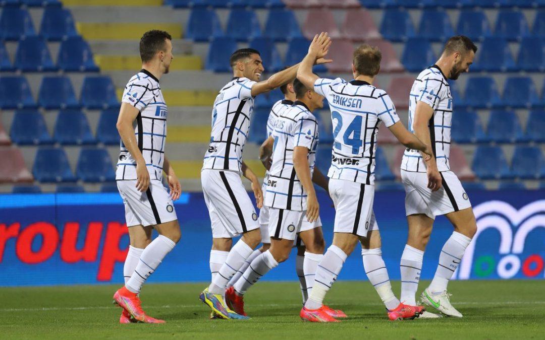 L'Inter vittoriosa sul campo del Crotone