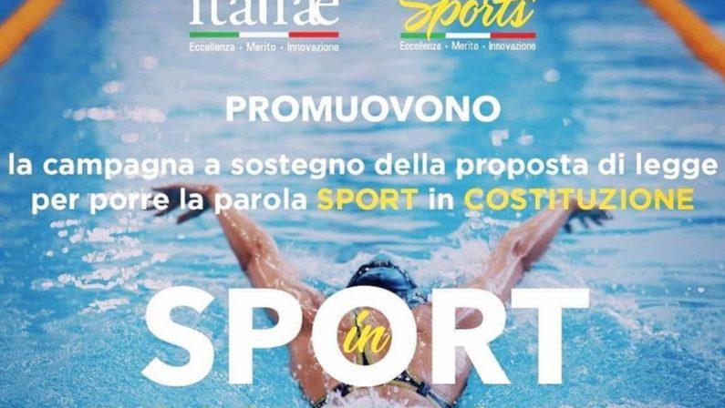 """""""Sport in costituzione"""", Cultura Italiae lancia raccolta firme"""