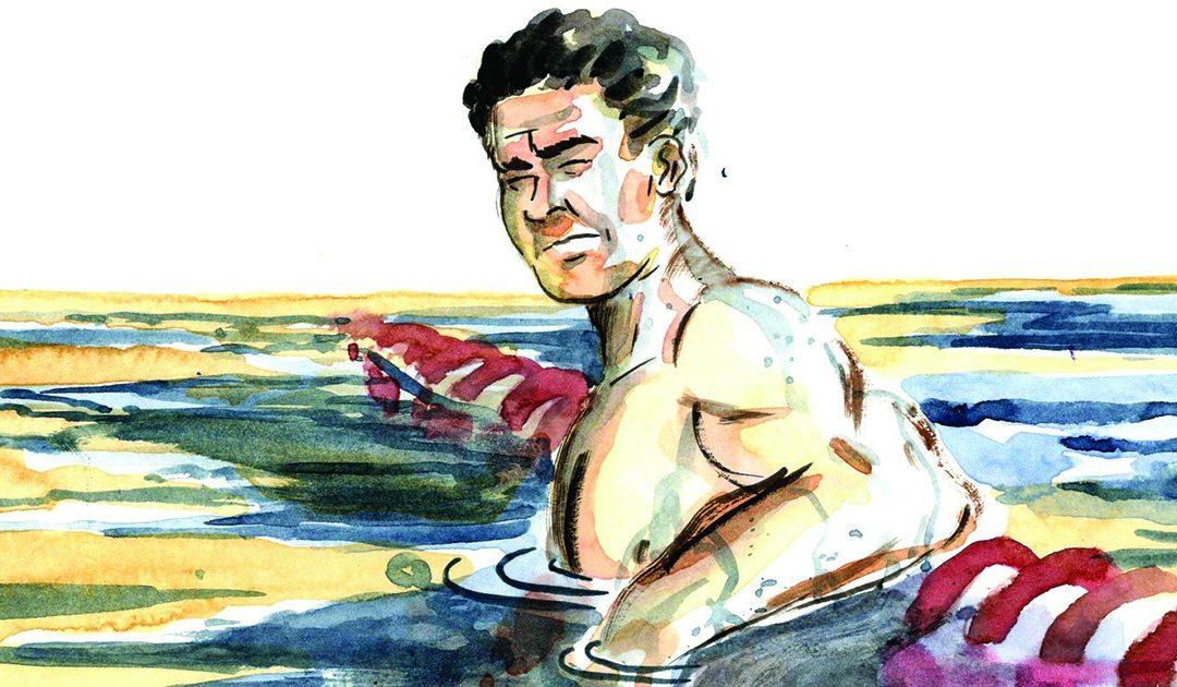 Alfred Nakache Illustrazione di Roberto Melis