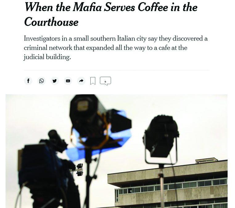 Il sito del New York Times con il titolo dell'articolo