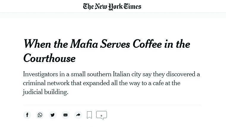 Mafia caffé sbarca in America