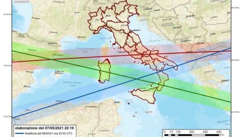 Razzo cinese in caduta, Calabria e Puglia le regioni meridionali più esposte. Ecco le traiettorie possibili